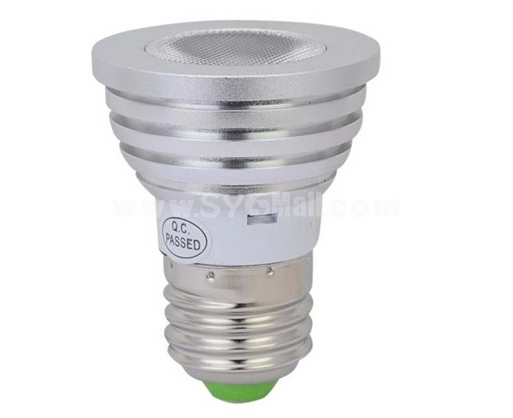 E27 5W AC100V-240V RGB Light Over Two Million Colors LED Energy Saving Lamp with Remote Control