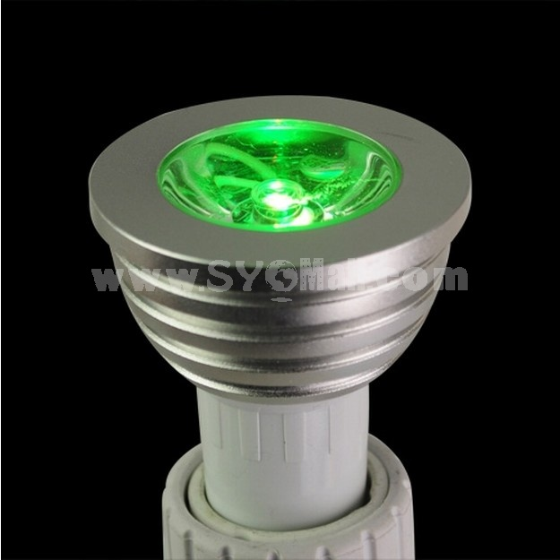 GU10 3W 16 Color RGB LED Light Bulb Lamp Remote Control 220V