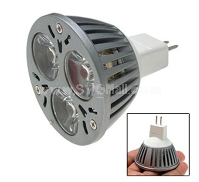 12V 3W MR16 High Power White LED Spot Light Bulb Lamp