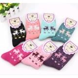 Wholesale - Warm cartoon deer pattern woolen floor socks