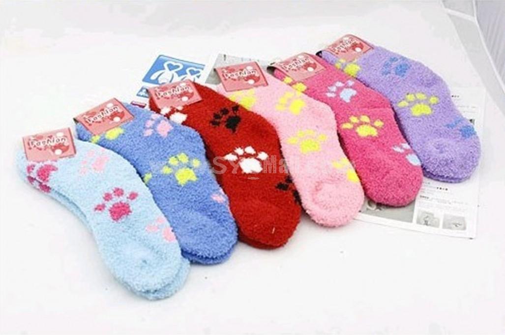 Extra thick cartoon pattern terry socks