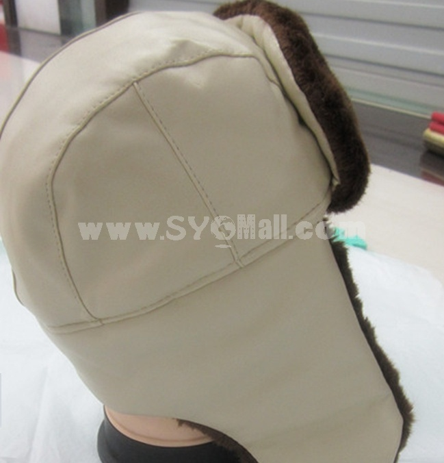 Leather Ear Protection Cold-proof Wind Snow Hat