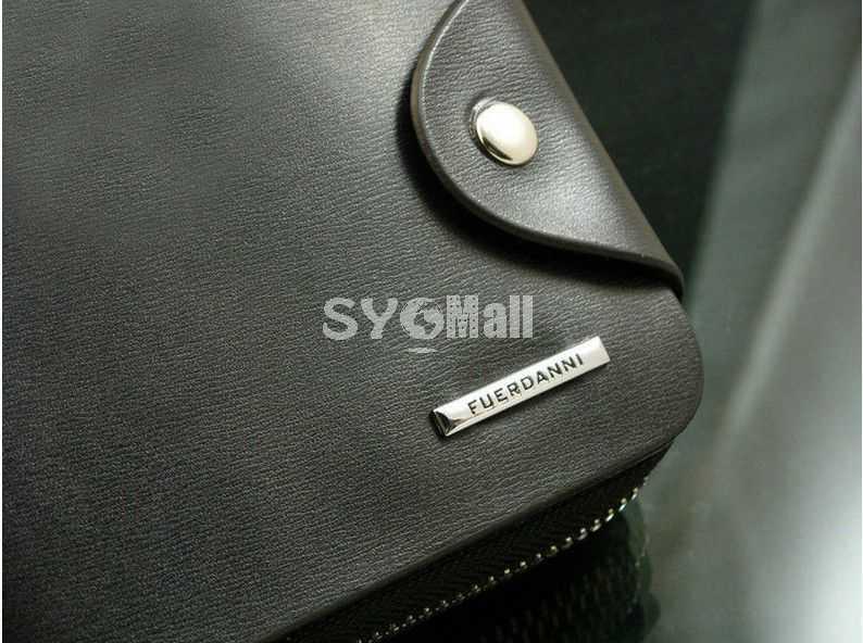 Leather Zipper Short Style Men Wallet