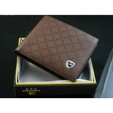 Wholesale - Solid Check Pattern Cow Leather Men Wallet