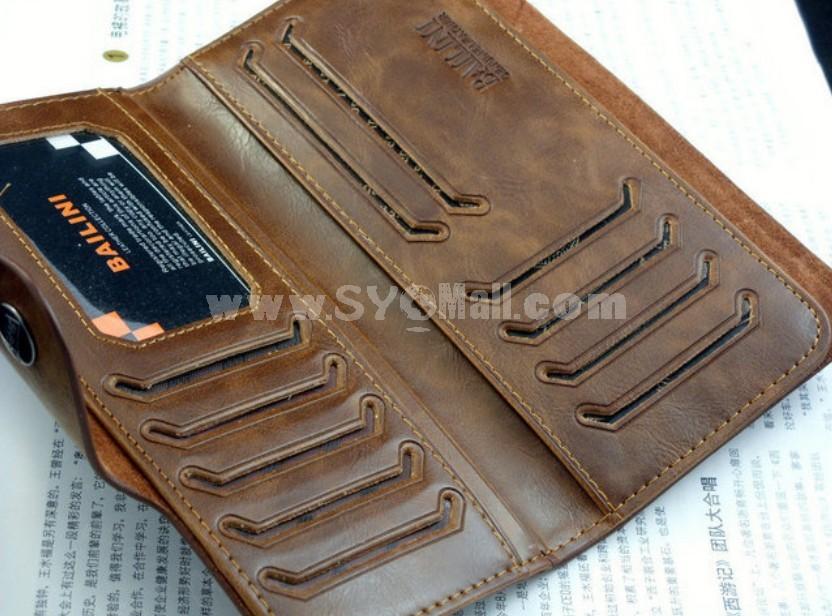 New Bi-fold Leather  Retro Style Men Wallet