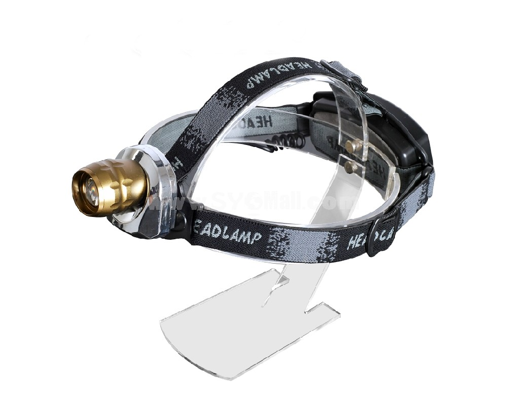 QIANGSHENG hard light outdoor zoom head lamp with 2 Lithium batteries