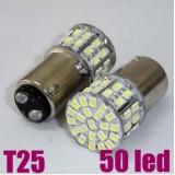 Wholesale - Dual Indicator White LED S25 T25 1157/BA15D 3W 50 Car Tail Light Replacements, 2pcs