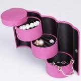 Wholesale - GUANYA Stylish Flannelette Cylinder Jewel Box (100-A8)