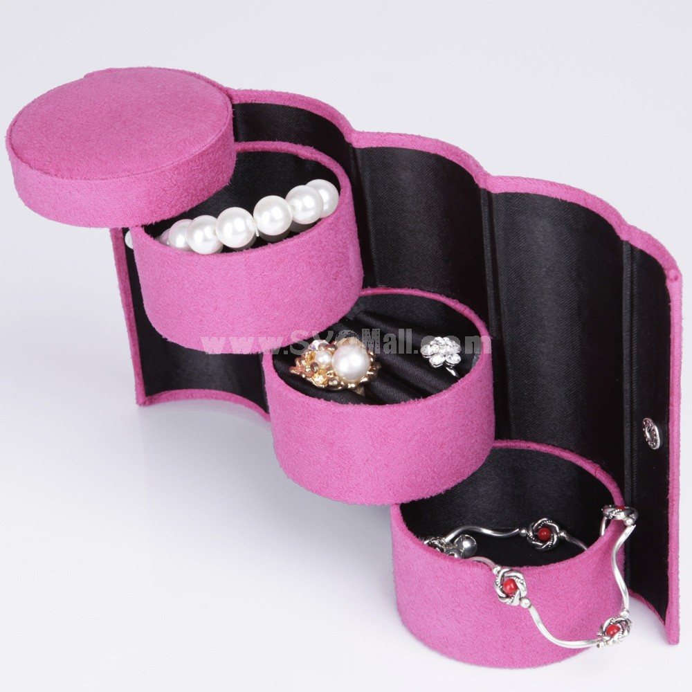 GUANYA Stylish Flannelette Cylinder Jewel Box (100-A8)