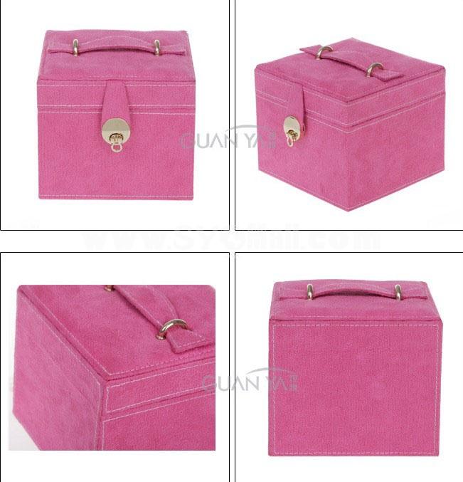 GUANYA Stylish Flannelette Multilayer Jewel Box (670-A8)