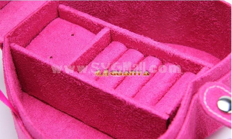 GUANYA Stylish Flannelette Heart Shaped Jewel Box (537-A8)
