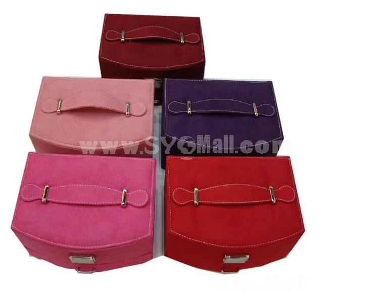 GUANYA Stylish Flannelette Fan-shaped Jewel Box (703-A8)