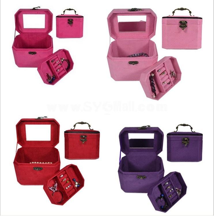 GUANYA Stylish Flannelette Multilayer Jewel Box (654-A8)