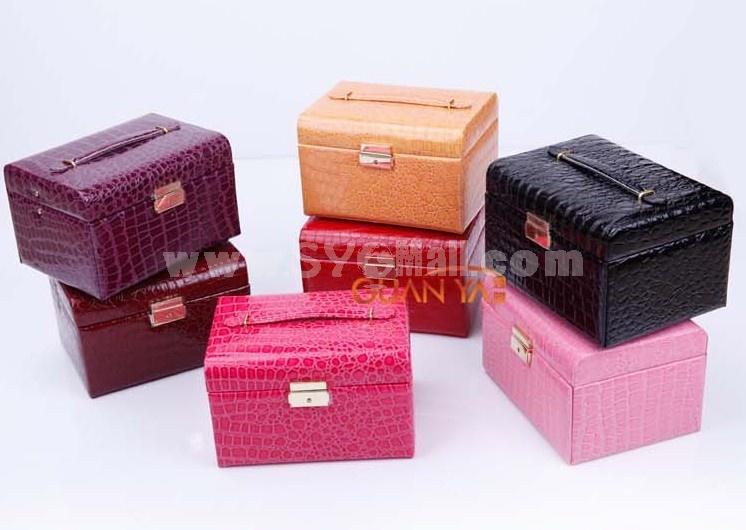 GUANYA Crocodile Leather Arch Jewel Box (P105-59)