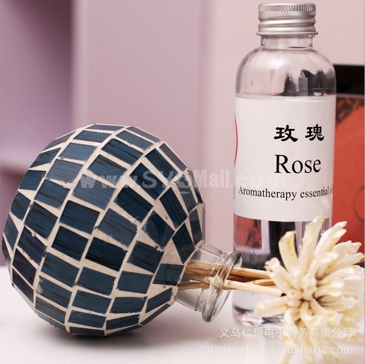 Home Air Freshener Aromatherapy Essential Oil and Mosaic Glass Bottle Set -RZMG