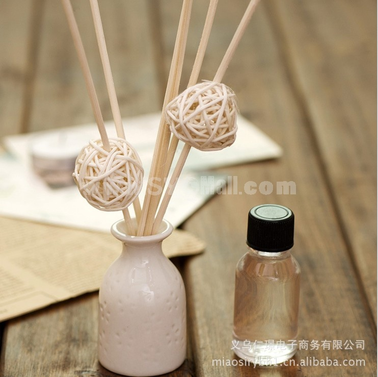 Home Air Freshener Aromatherapy Essential Oil and Round Ceramic Bottle Set -R202
