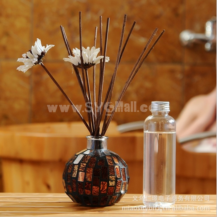 Home Air Freshener Aromatherapy Essential Oil and Extravagant Glass Bottle Set -2J304