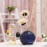 Wholesale - Home Air Freshener Aromatherapy Essential Oil and Coloured Glaze Glass Bottle Set -RZMB