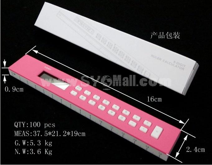 Mini Portable Multifunction Ruler Calculator
