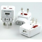 Wholesale - Universal Travel Charger Adapter with USB Power Port