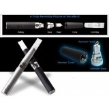 Wholesale - EGO-C 650mAh double ecigarette black color apple flavor 24mg nicotine content