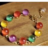 Wholesale - Lovely Vintage Candy Color Crystal Beads Bracelet (TB511)