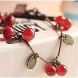 Wholesale - Vintage Lovely Sweet Cherry Alloy Bracelet (TK003)