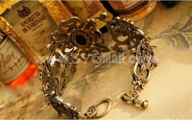 Vintage Palace Hollow Ruby Carve Bracelet (TB363)