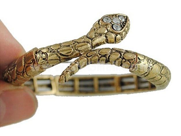 Vintage Gold Snake Shape Punk Adjustable Bracelet (TF49)
