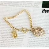 Wholesale - Stylish Bracelet with Diamond High-heeled Shoe & Peach Heart Pendant (TB510)