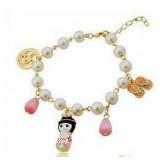 Wholesale - Stylish Doll Decorted Alloy Bracelet (TB114)