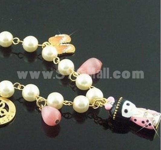 Stylish Doll Decorted Alloy Bracelet (TB114)
