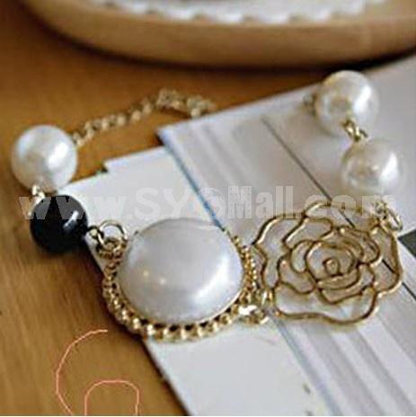 Exquisite Rose Pearl Bracelet (TK000)