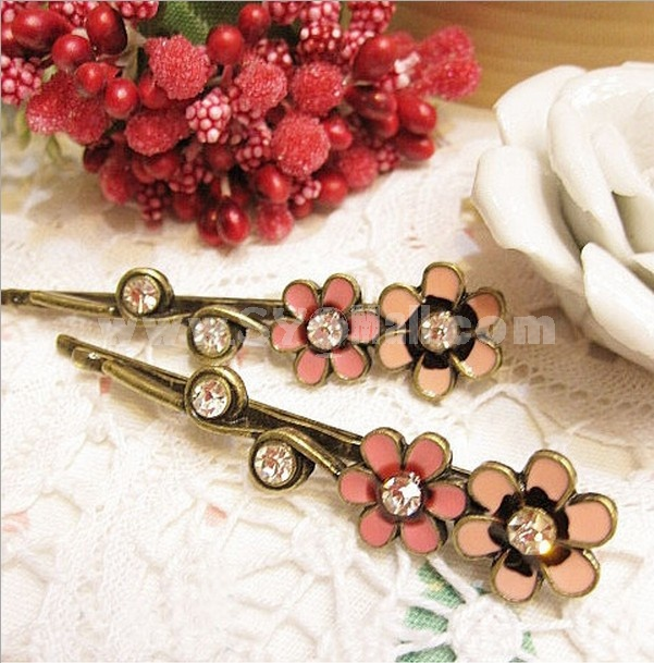 TB47 Weatern Style Flower Design Hairpin