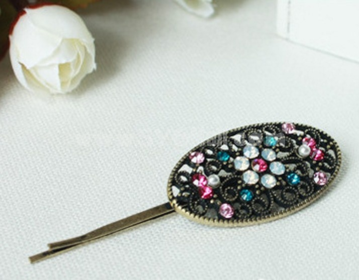 TV031 Vintage Style Colorful Hollow Hairpin