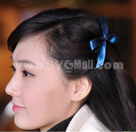 TV048 Women's Ribbon Butterfly Tie Hair Clip/ Barrette