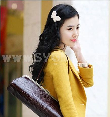 TV058 Korean Style Butterfly Design Beaded Hair Clip/ Barrette