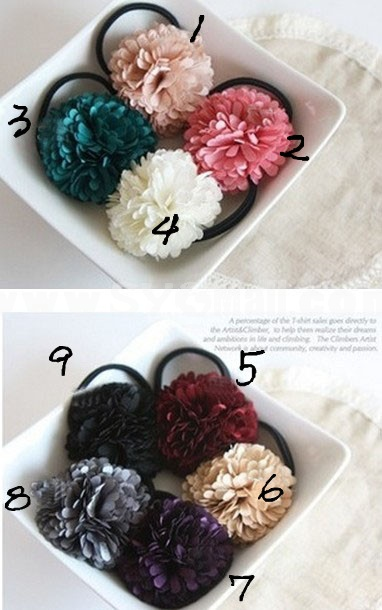 TC16 Korean Style Flower Design Hair Tie