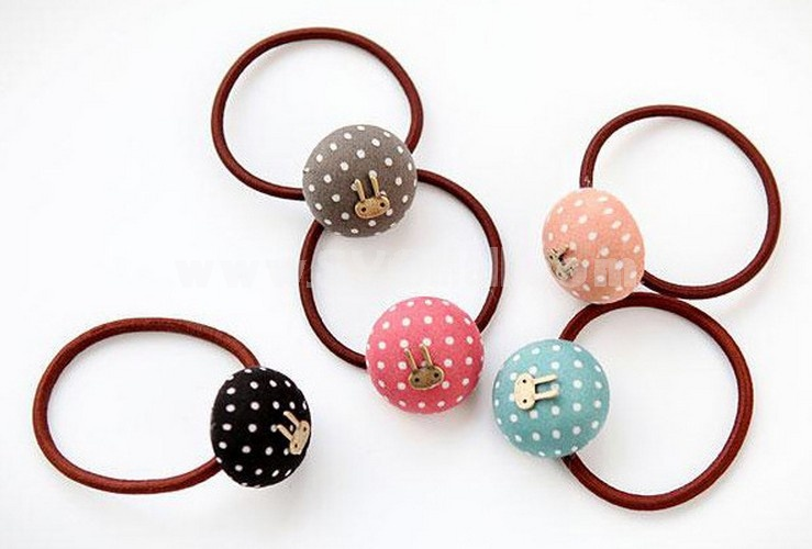 TC55 Lovely Dots Rabbit Design Hair Tie