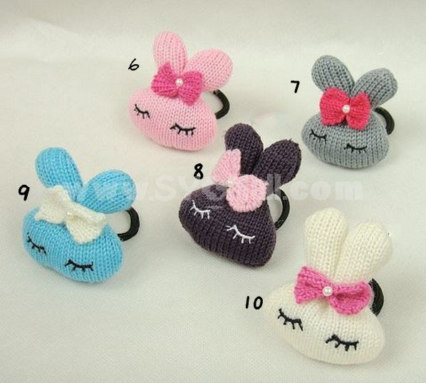 TA11 Korean Style Rabbit Design Hair Tie