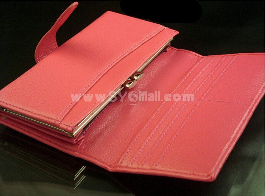 Long Women Flap Magnetic Buckle Wallet
