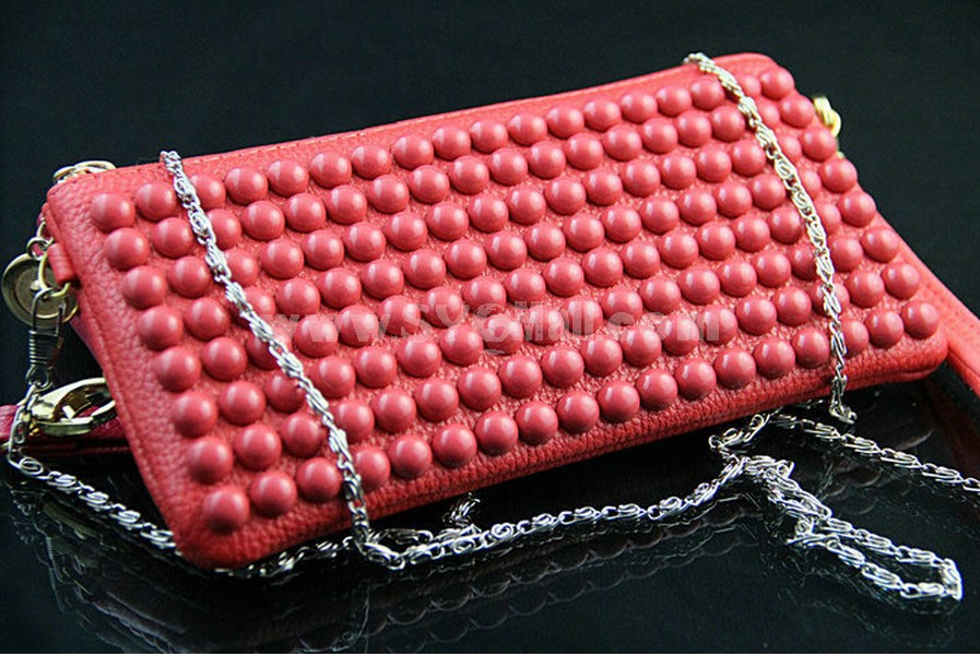 Charming Rivet Brief Long Wallet/Evening Handbag