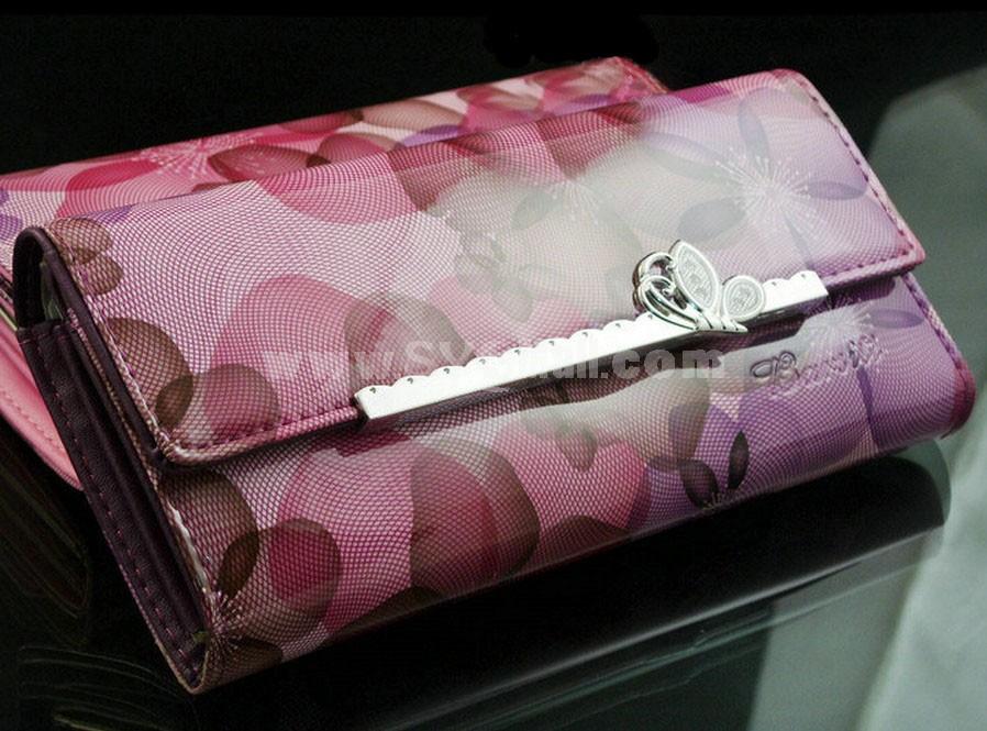 Trendy PU Long Wallet