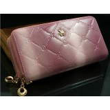 Wholesale - Trendy Check Pattern Zipper Long Women Wallet