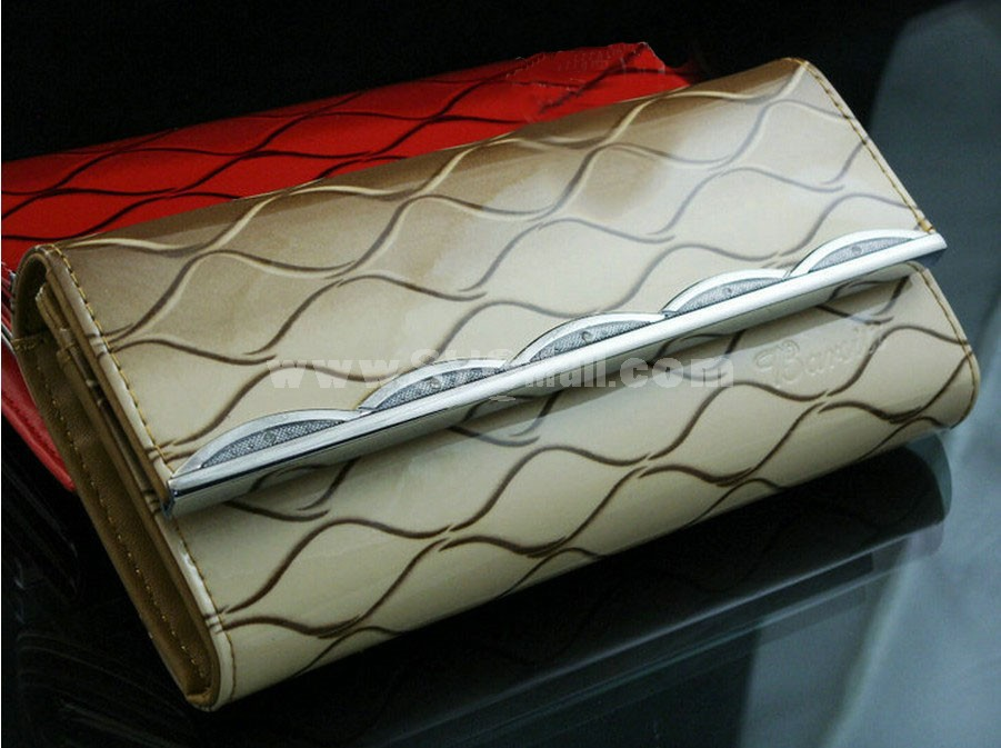 Stylish Stripe Printed PU Long Women Wallet/Evening Handbag/Clutch