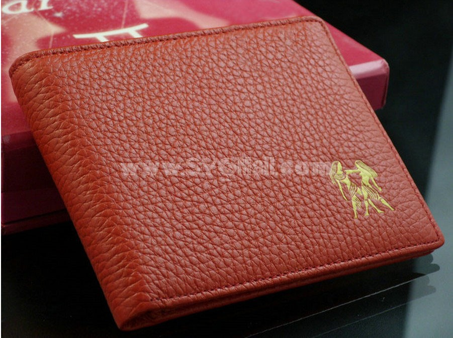 Unisex Short Cow Leather Wallet