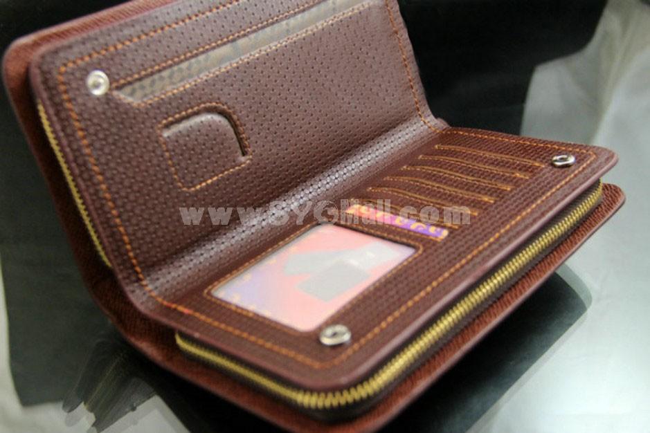 Trendy Large Capacity Multiple Pockets Print Men Wallet/Clutch
