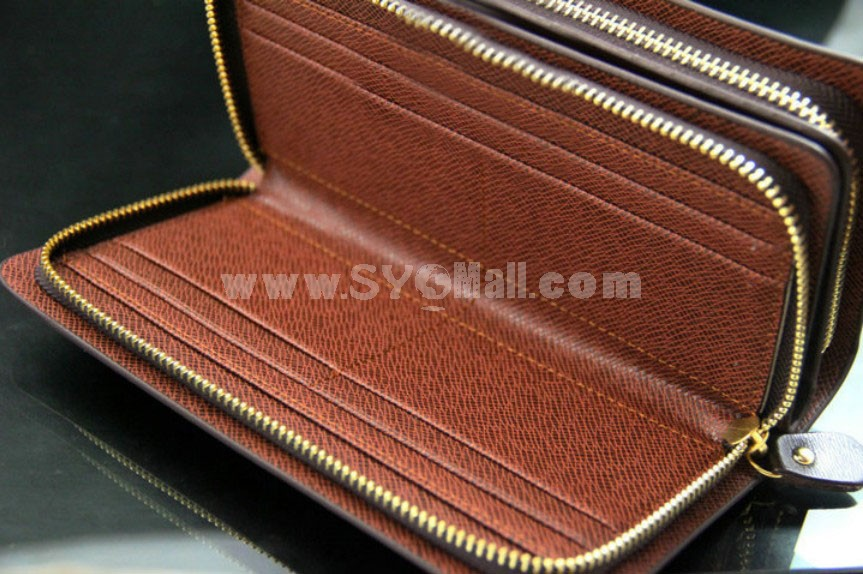 Stylish Large Capacity Multiple Pockets Print Men Wallet/Clutch