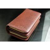 Wholesale - Stylish Large Capacity Multiple Pockets Print Zipper  Men Wallet/Clutch