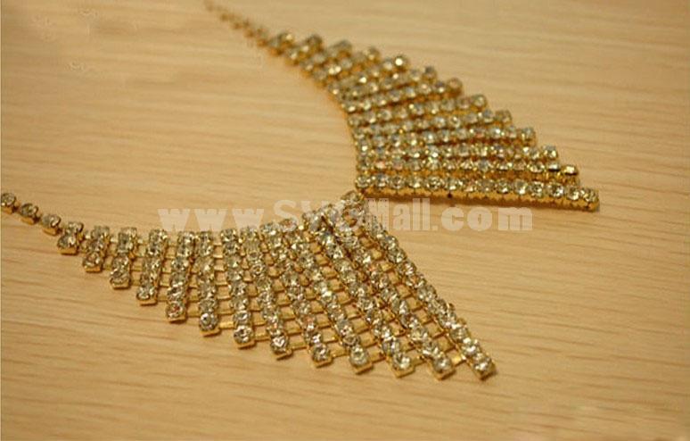 Elegant Diamonds Bowknot Alloy Collar (TB499)